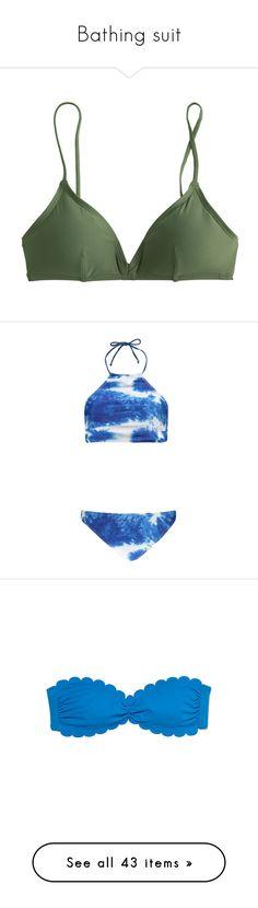"""""""Bathing suit"""" by emmagracejoness ❤ liked on Polyvore featuring swimwear, bikinis, bikini tops, bathing suits, tops, swim suits, swimsuit tops, tankini bathing suit tops, swimsuits two piece and swimsuit swimwear"""