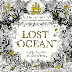 Lost Ocean: An Inky Adventure and Coloring Book (Pocket)