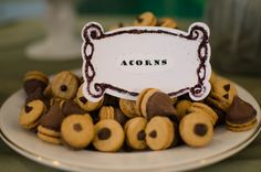 hershey's kisses on mini cookies - acorns - totoro party!