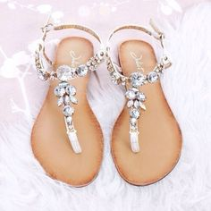 shoes rhinestone sandal summer outfits diamonds rhinestones sandals flip-flops beige perfect luxury sandals, silver, diamonds, jewels girly cute white brown leather fashion weheartit party silver lovely juliet jewel outfit summer shoes juwels classy sassy flip flip summer style flip-flops beauty glamour