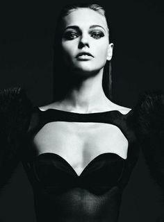 Photo ofSasha Pivovarov, Mugler, by Hedi Slimane for Vogue Nippon
