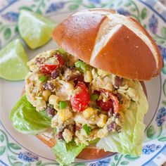 Southwestern Chicken Salad Recipe by @imsoveryblessed - #KeepOnCooking #Entree #Entrée #Poultry #Salad #Sandwich #Snack