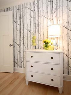 Woods wallpaper - A classic design by Michael Clark ; available through Cole & Son