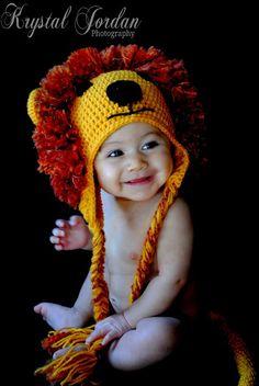 Baby lion hat  Lion hat Animal hat Baby hat photo prop by jmillan, $30.00