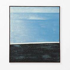 "Abstract Wall Art - Blue West Elm 36"" x 40"" $249"