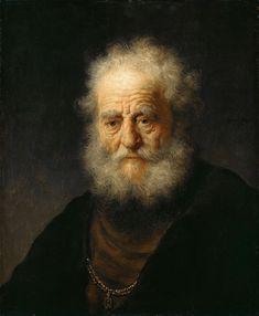 Пожилой мужчина с золотой цепочкой (приписывается). Рембрандт Харменс ван Рейн. Кассельская картинная галерея, Кассель (Gemäldegalerie Alte Meister, Kassel). ок1632. 59х49