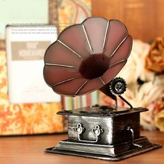 Vintage Antique Style Phonograph Metal Model Memory of Old Times Decoration Gift - Gadgets-Novelty - TopBuy.com.au
