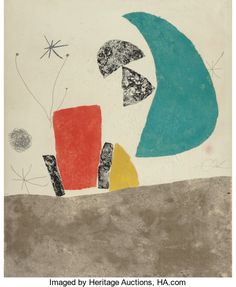 Fine Art - Work on Paper:Print, Joan Miró (1893-1983)Plate 5, from...