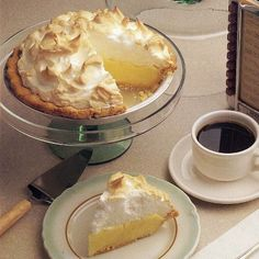 Sweet meringue is an ideal topping in this tart lemon curd favorite.