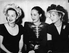 Olivia de Havilland, Dorothy Lamour, Joan Fontaine