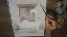 La porte fleurie - Démo aquarelle -(watercolor tutorial)