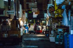 "The Tsukiji Outer Market, known as the Jogai Shijo, is Japan's ""Food Town,"" where one can encounter all of Japan's traditional foods."