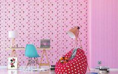 minni egeres gyerektapéta Latest Wallpapers, Minnie, Wall Lights, Pink, Home Decor, Appliques, Decoration Home, Room Decor, Pink Hair