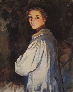 Girl with a candle. Self portrait - Zinaida Serebriakova