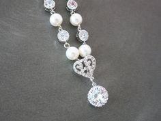Forever Love Victorian Style Swarovski Pearl by GlitzAndLove