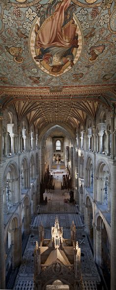 Peterborough Cathedral & Christ in Majesty from the triforium
