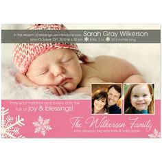Christmas card/Birth announcement!