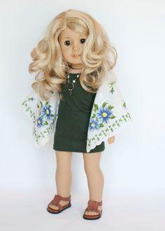 American Girl Doll boho hanky tunic by EverydayDollwear on Etsy