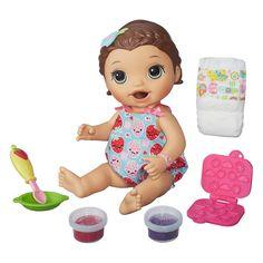 Baby Alive Lili Brunette Super Snack Snackin New #Hasbro
