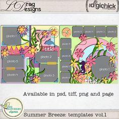 Summer Breeze: Templates Vol.1 by LDrag Designs
