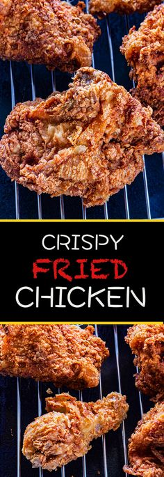 This crispy fried chicken recipe is a picnic favorite. Easy enough for weeknight dinners or Sunday get togethers. Wonderfully crisp and perfectly seasoned. Chicken Recipes Video, Fried Chicken Recipes, Chicken Meals, Crispy Fried Chicken, Roasted Chicken, Buttermilk Chicken, Turkey Dishes, Fries In The Oven, Weeknight Dinners