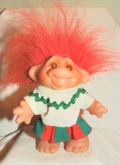 DAM SCHOOL GIRL Rare 6 Inch Troll Doll Figure (RED Hair) by DAM,