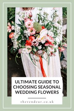 The Ultimate Guide to Choosing Seasonal Wedding Flowers by the Vendeur. Gemma Therese Pearce of Ultramarine Flowers shares her guide to choosing seasonal and sustainable wedding flowers. In this article, we explore what makes flowers sustainable and we list out the best wedding flowers for spring, summer, autumn and winter. Perfect for wedding table centrepieces, wedding bouquets, and boutonnieres. Learn more for your sustainable wedding day.
