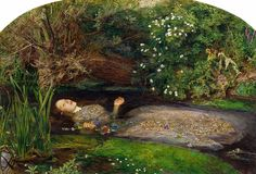 """One of the famous painting of Ophelia drowning in Hamlet Act IV, Scene VII by British artist Sir John Everett Millais, completed between 1851 and Hoe, Ellen. """"The Meaning Of 'Ophelia' By John Everett Millais. Jasmine Becket Griffith, John Everett Millais Ophelia, Ophelia Painting, 6 Images, Bing Images, Pre Raphaelite Paintings, Pre Raphaelite Brotherhood, Dante Gabriel Rossetti, Google Art Project"""
