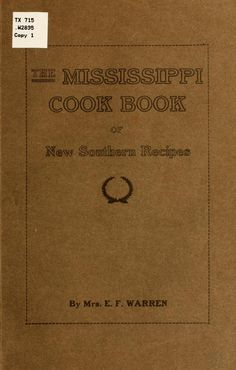 Cook book you can actually open and access...old Southern food.