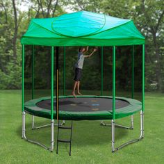 Your kids will have fun all year round with a trampoline roof by Australia's own Oz Trampolines. Backyard Trampoline, Backyard Farming, Cheap Trampolines For Sale, Best Friend Sweatshirts, Baby Unicorn, Unicorn Hat, Outdoor Tables, Gardens, Shopping
