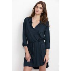 Velvet by Graham and Spencer.  KOLORA SHEER JERSEY BELTED SHIRT DRESS