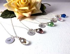 silver Initial Necklace  Personalized Hand by jewelrycraftstudio, $24.00