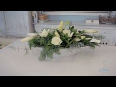 Elongated Rose & Lily Wedding Table Centrepiece Floristry Tutorial - YouTube