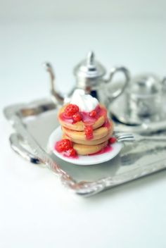 Heavenly Pancakes Ring in Miniature Polymer by DIVINEsweetness