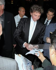 Recording Artist Barry Manilow attends the opening night of 'Harmony' at the Ahmanson Theatre on March 12, 2014 in Los Angeles