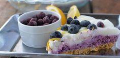 Frozen-Yogurt-Bluerry-Lemon-Layered-Pie | No-Bake Layered Frozen Yogurt Blueberry Lemon Pie