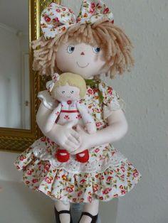 "RAGGEDY ROSE. A 15"" rag/cloth handmade original doll by Brenda Brightmore   eBay"