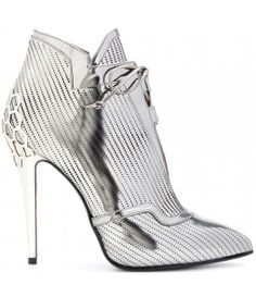 Fendi Perforated-leather Ankle Boots