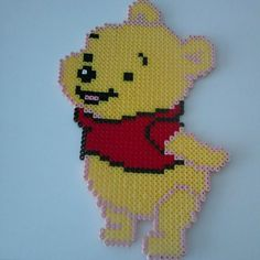Winnie the Pooh hama beads by Demi van Baalen