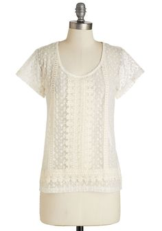 Delicate Some Time Top, #ModCloth