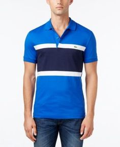 Lacoste Men's Santino Colorblocked Polo, Only at Macy's - Gray 3XL