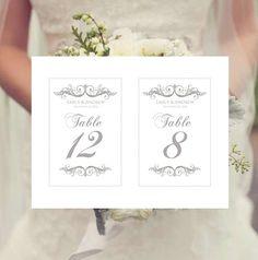 Wedding Table Numbers Template Instant par PixelRomance4ever  sc 1 st  Pinterest & DIY Printable Wedding Table Number Template | Printable Table ...
