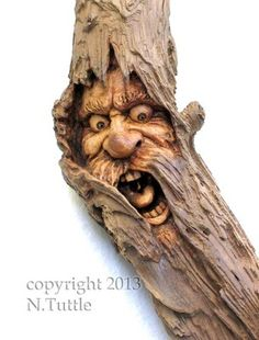 """NEW carving in a really old piece of wood"" by Nancy Tuttle"