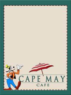 Journal Card - Cape May Cafe - Goofy - 3x4 photo dis_224a_cape_may_goofy.jpg