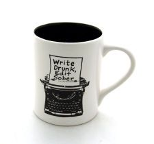 Writers Mug with Typewriter Funny Gift for Author or Lover of Writing