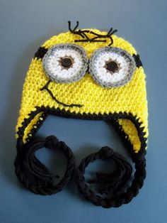Crochet Minion Hat, Crochet Despicable Me Hat, Toddler, Baby Boy - Made To Order. $17.00, via Etsy.