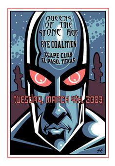Queens of the Stone Age El Paso Concert Poster by Justin Hampton