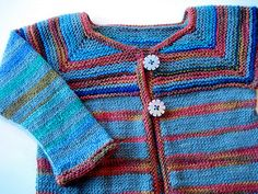 This baby jacket is a great way to use up leftover sock yarn and make a fun little sweater at the same time. This pattern uses three different leftover yarns – one is a solid, one is variegated, and one is self-striping. You can mix yours up however you like. I also varied the width of my stripes as I knitted – make yours as varied or as regular as you like (you don't have to follow the charts provided). You can hardly go wrong! Just make sure that your sock yarns are all the same weight and…