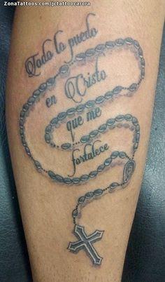 Tatuaje de Rosarios, Religiosos, Frases