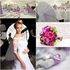 Violet wedding collage